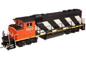 """CN GP40-2(W) #9640 -""""STRIPES"""""""