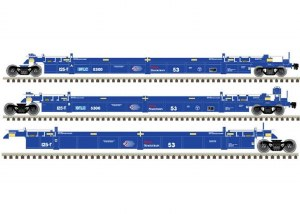BNSF 53' WELL CAR #9059-3 PACK