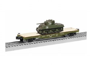 US ARMY 40' FLATCAR W/SHERMAN