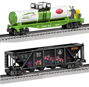 CSX TANK CAR & HOPPER  2PK