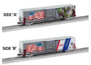 UP LED FLAG BOXCAR #1943
