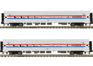 AMTRAK 2 CAR AMFLEET SET