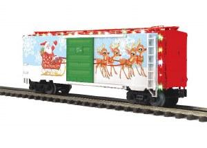 CHRISTMAS BOX CAR W/LED LIGHTS