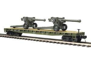 US ARMY FLAT W/2 HOWITZERS