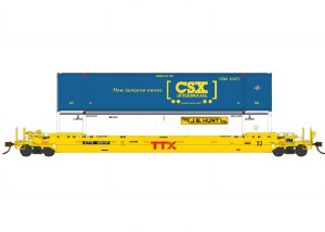 TTX 53' WELL CAR W/2 CONTAINER