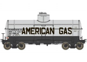 AMER GAS 10K GAL TANK CAR#1547