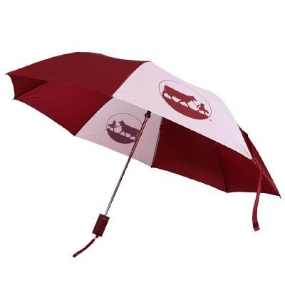 Maroon White Umbrella
