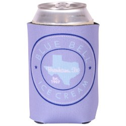 Blue Circle Texas Koozie
