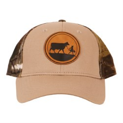 Camo Leather Patch Cap