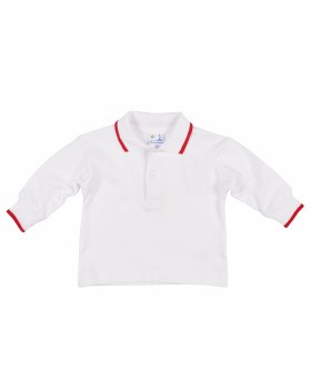 White & Red Tipping Interlock Knit. 100% Cotton
