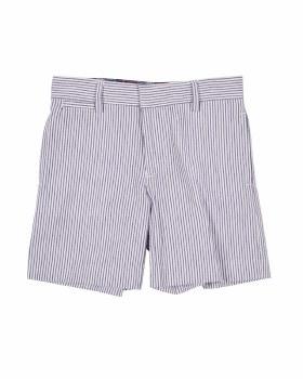 Navy & White Stripe Seersucker. 100% Cotton