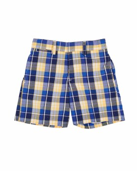 Blue & Yellow Plaid 60% Cotton 40% Polyester. Lined