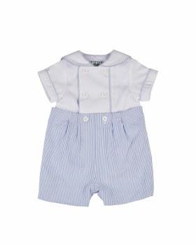 Blue & White Stripe Seersucker. 100% Cotton. Shirt 100% Cotton