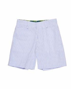 Blue & White Stripe Seersucker. 100% Cotton