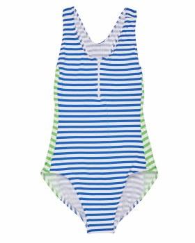 Blue & White Stripe 93% Nylon 7% Elastan. Lined