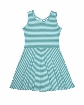 Aqua Shadow Stripe Knit. 50% Polyester 50% Cotton