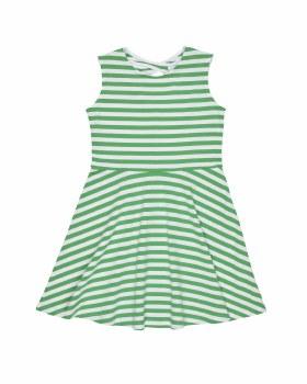 Green & White Stripe Knit. 97% Cotton 3% Spandex