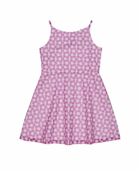 White & Pink Floral Burnout & 60% Polyester 40% Cotton. Lined