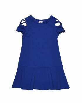 Blue Crepe Knit. 95% Polyester 5% Spandex