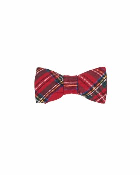 Red & Green Plaid. 65% Polyester 35% Viscose Bow Tie