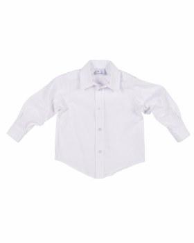 White Oxford Shirting.  55% Cotton 45% Polyester