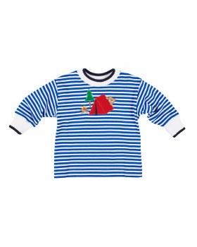 Royal Stripe Interlock Shirt, 50% Cotton 50% Polyester,  Camping Bear