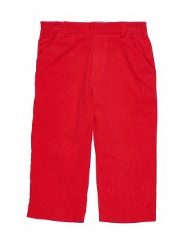 Red Corduroy.  100% Cotton