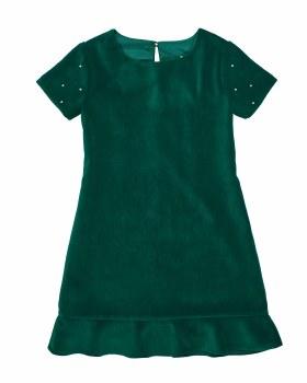 Green Velvet. 100% Polyester. Lined