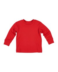 Red Interlock Knit. 100% Cotton