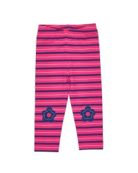 Fuchsia, Navy, Grey Leggings, Flower Knee Patches