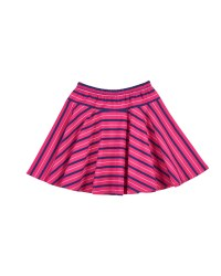 Fuchsia, Navy, Grey Stripe, Skater Skirt