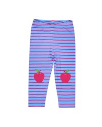 Blue, Fuchsia Stripe Legging, Apple Knees