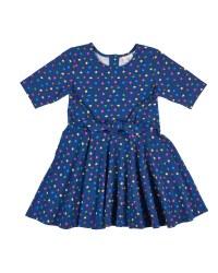 Navy with Multi Dot, Wrap Dress