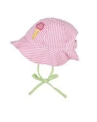Pink Stripe Seersucker Hat, 100% Cotton, Ice Cream Cone