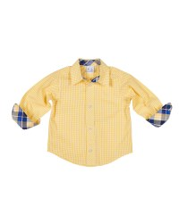 Yellow with White Check 100% Cotton