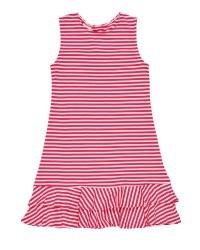 Pink & White Stripe Knit 50% Polyester 50% Cotton