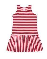 Red & White Stripe Knit & 97% Cotton 3% Spandex