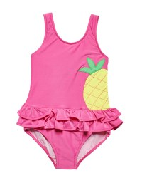 Bright Pink Stripe 80% Nylon 20% Spandex Pineapple. Lined