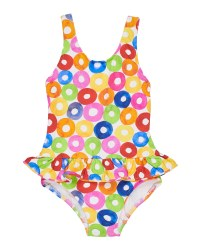 MuLighti Doughnut Print on White 90% Nylon 10% Elastan. Lined