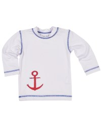 White Supplex with Anchor Screen Print.100% Polyester