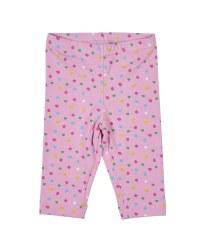 Pink & Multicolor Dot Capris