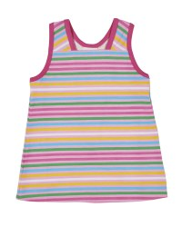 Printed Pink & Multicolor Stripe with Crossover Back