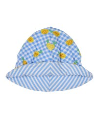 Pineapple Print & Stripe Reversible Hat