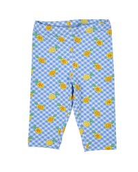 Blue, White & Yellow Pineapple Print Capris