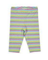 Printed Multicolor Stripe Capris