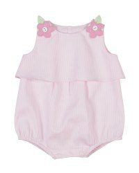 Pink Walle. 100% Cotton with Flower Button Shoulders