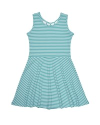 Aqua Shadow Stripe Knit. 50% Polyester 50% Cotton