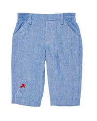 Royal Brushed Herringbone Pant, 100% Cotton, Embroidered Airplane