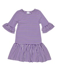 Purple  White Stripe Knit. 50% Cotton 50% Polyester
