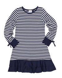 Navy & White Stripe Knit.  97% Cotton 3% Spandex